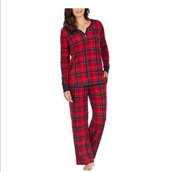 Nautica Womens 2 Piece Fleece Pajama Sleepwear Set bb54f76e9